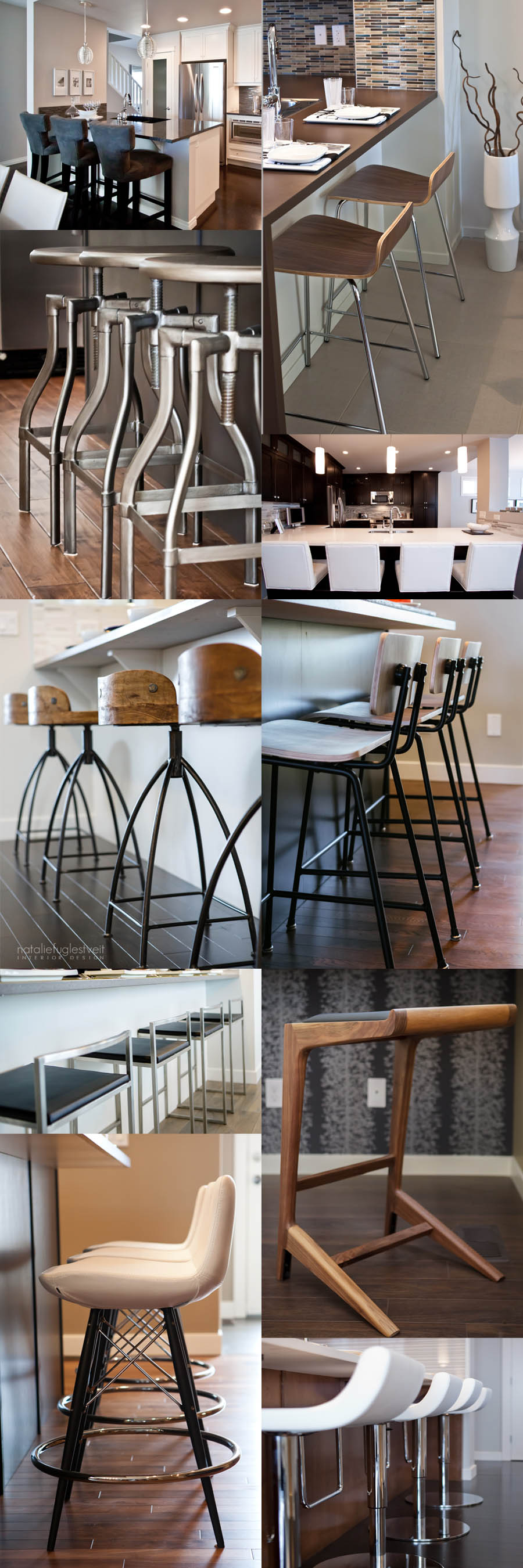 Counterstools, Barstools, Modern Stools, Rustic Stools, Leather Stools, White Leather Stools, Upholstered Stools, Furniture, Calgary Interior Designer