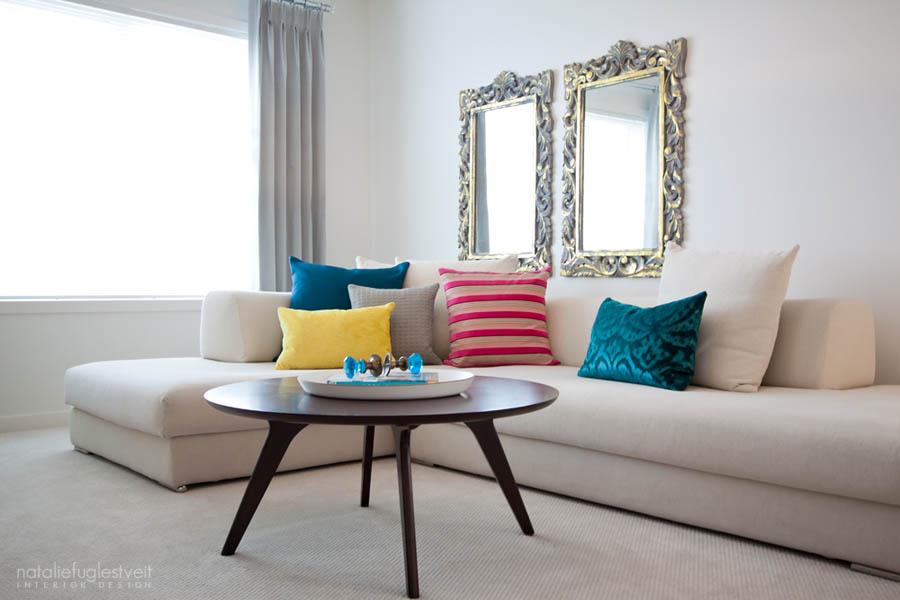 Vintage modern interior by calgary interior designer natalie fuglestveit interior design - Retro interior design ...