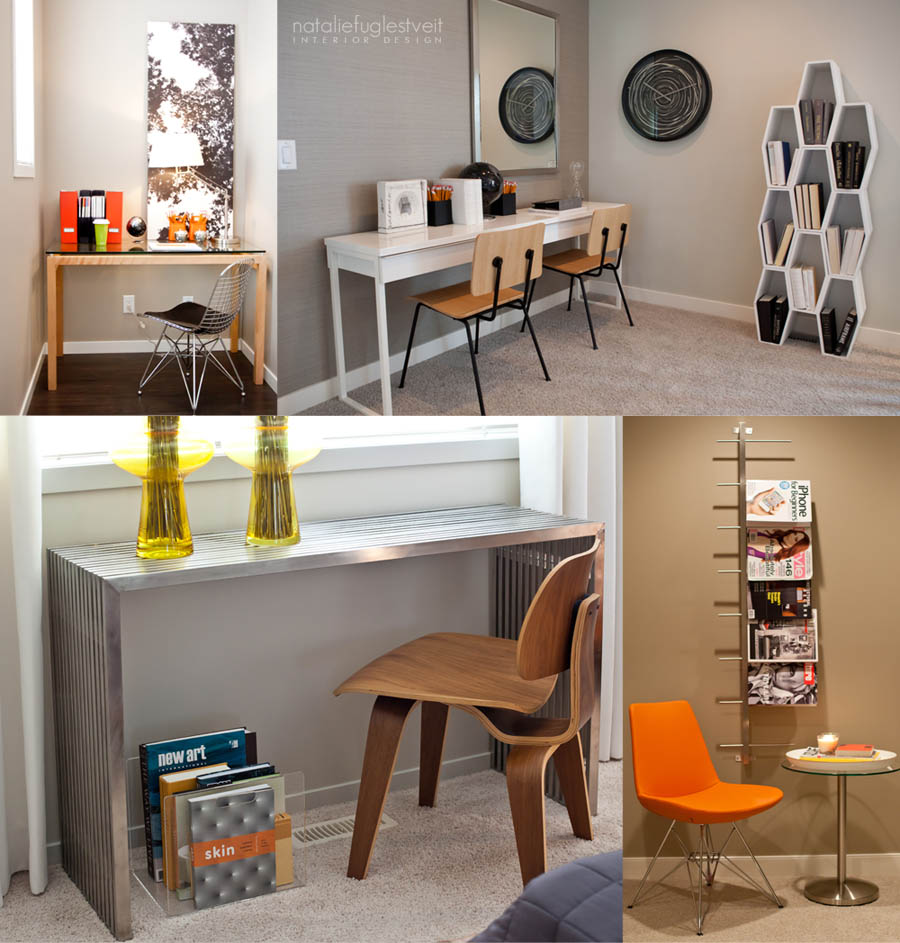 Small work spaces by calgary interior designer natalie fuglestveit interior design - Small work space decor ...