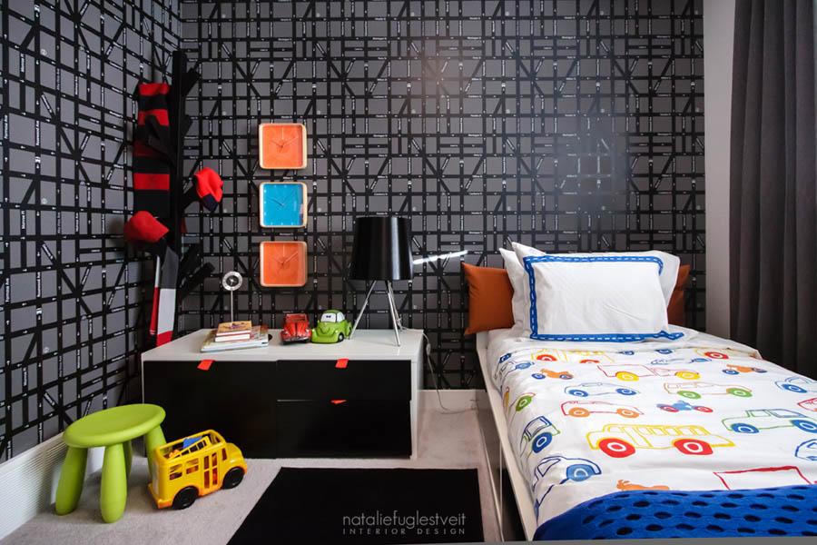 Modern Street Kids Rm by Calgary Interior Designer