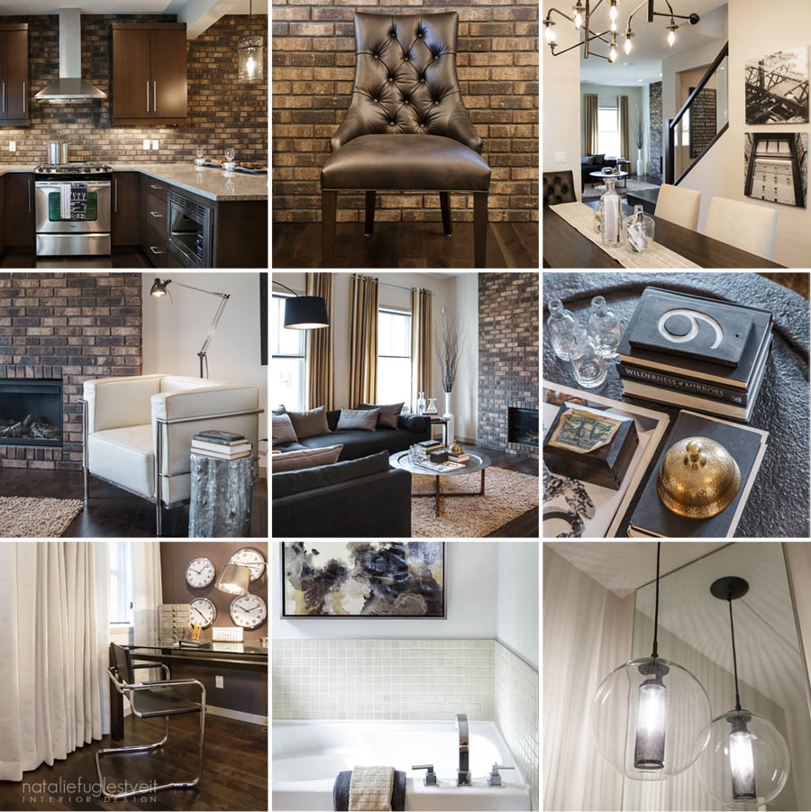 Industrial modern interior by calgary interior designer for Modern romantic interior design