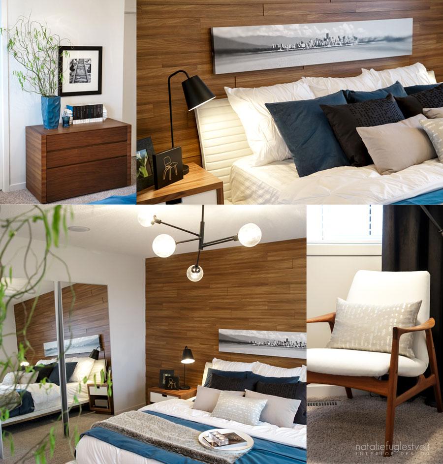 Retro Master Bedroom By Calgary Interior Designer