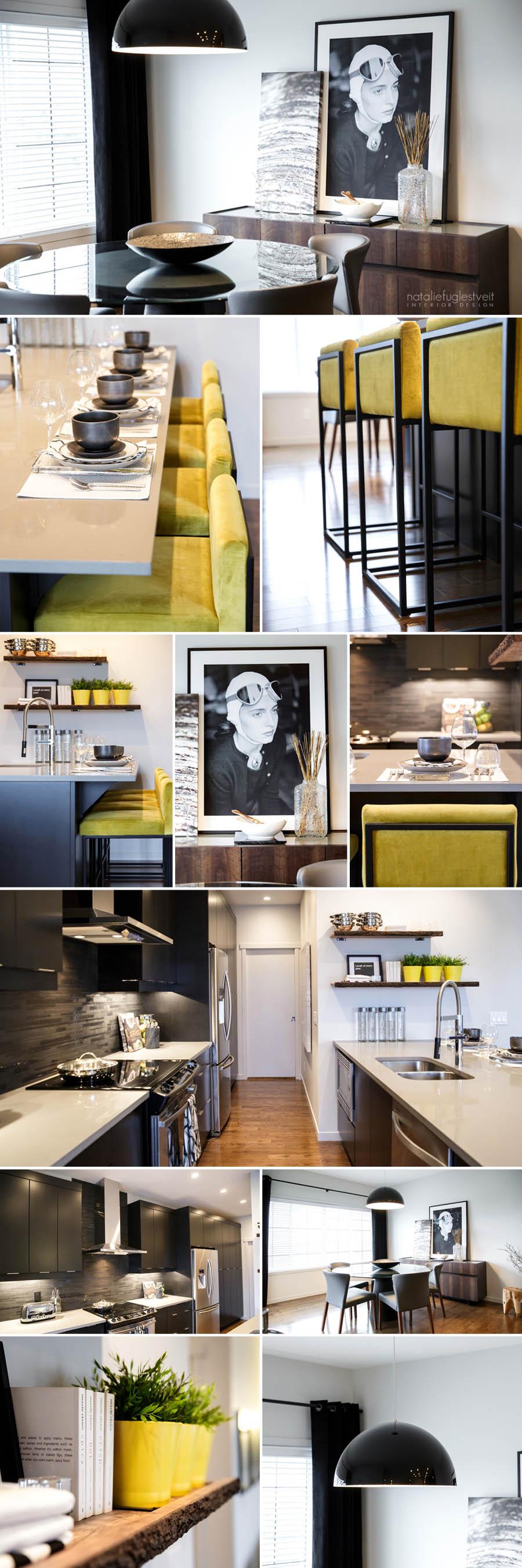 Kitchen Dining Interior Design: Rustic Modern Kitchen & Dining Rm By Calgary Interior