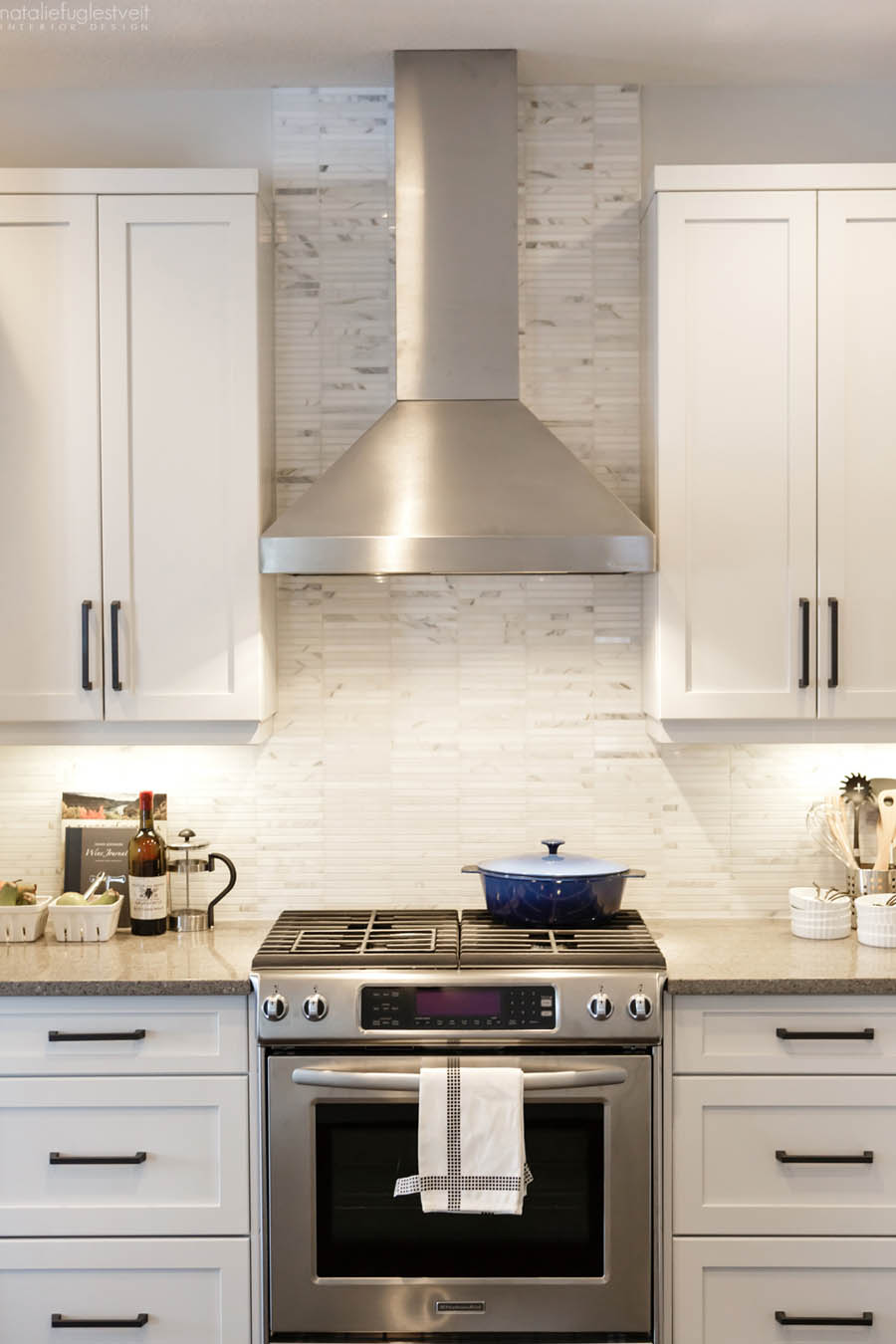 A rustic modern white kitchen by calgary interior for Rustic white kitchen cabinets