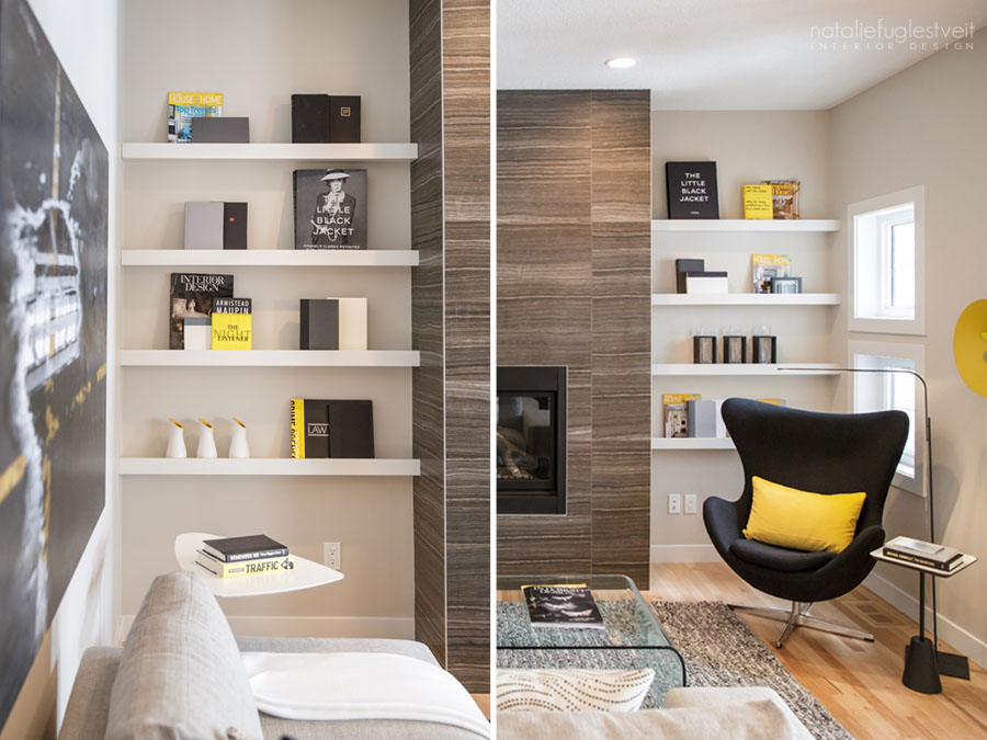 Modern Simple Picture Rails by Calgary Interior Designer