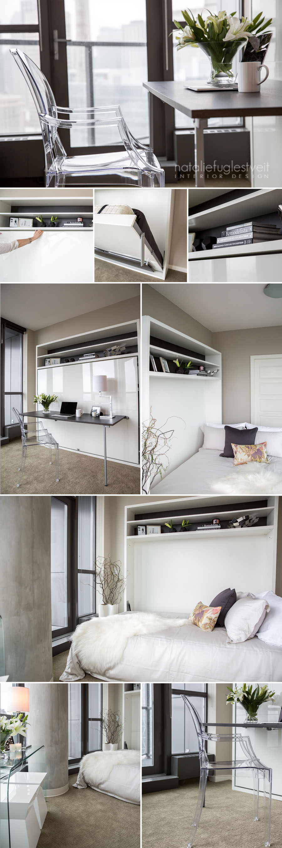 Calgary Condo Bedroom Office w/ Murphy Bed by Calgary Interior ...
