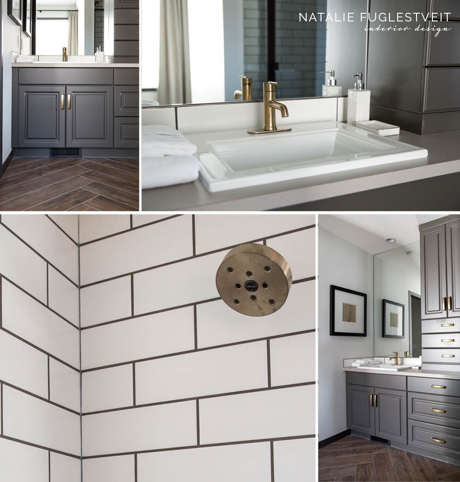 English Style Bathroom by Calgary Interior Designer