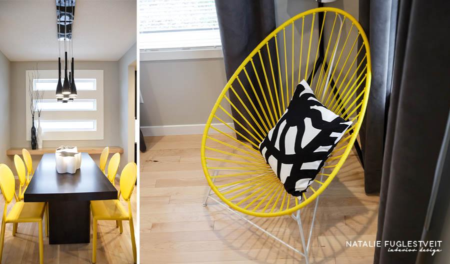 Yellow Chairs by Calgary Interior Designer