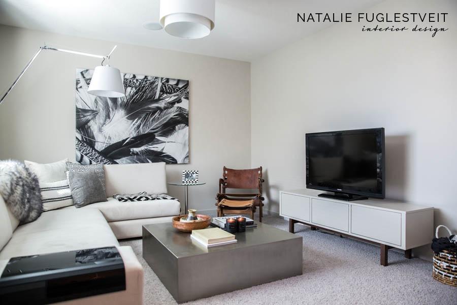 A Modern Mohave Bonus Room Project by Calgary Interior Designer