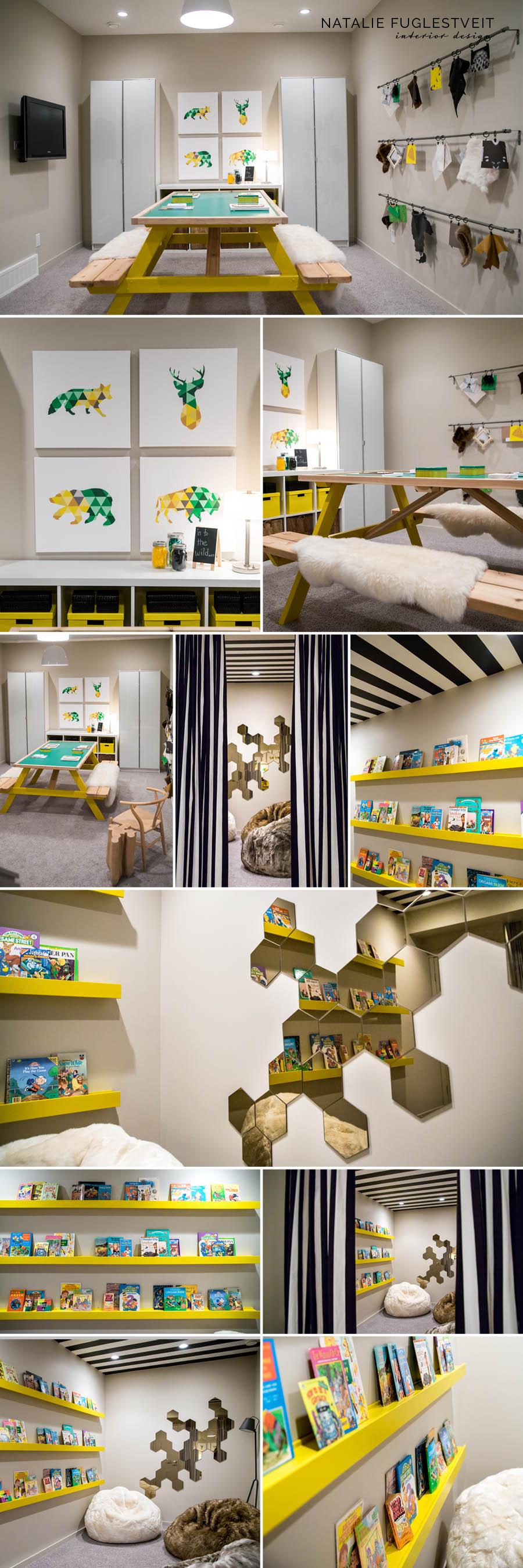 Amazing Kids Play Room in Basement by Calgary Interior Designer