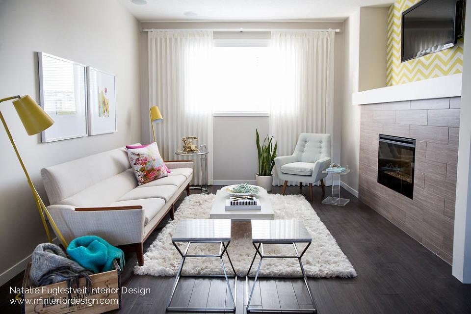 Cali Chic Living Room 1 by Calgary Interior Designer