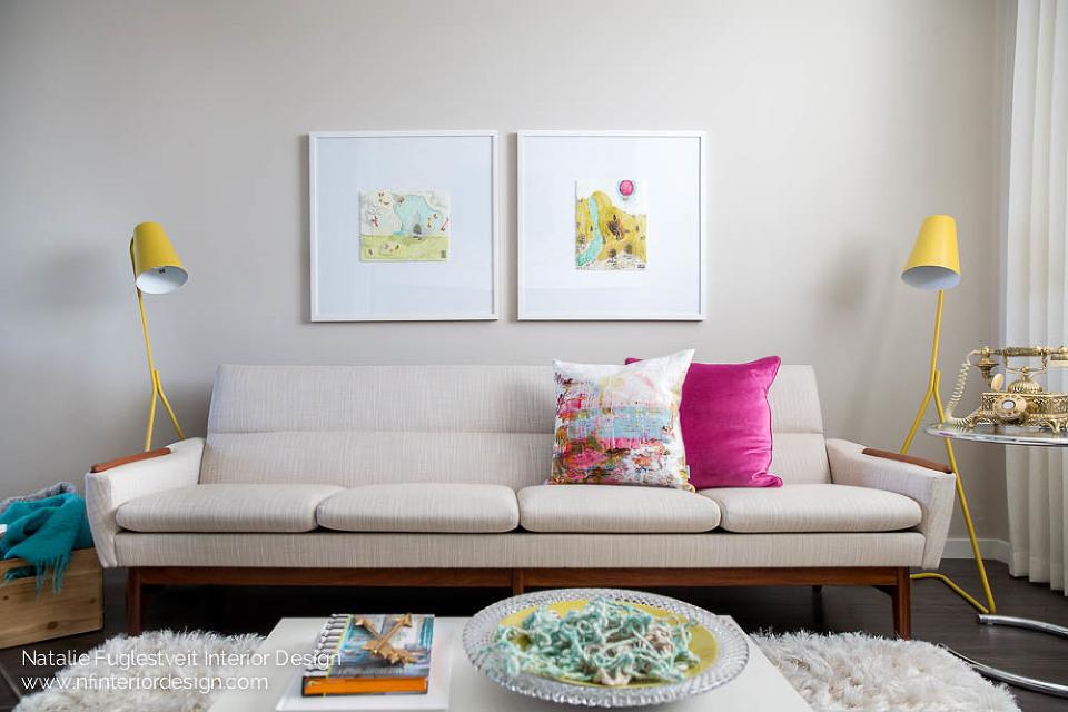 Cali Chic Living Room 2 by Calgary Interior Designer