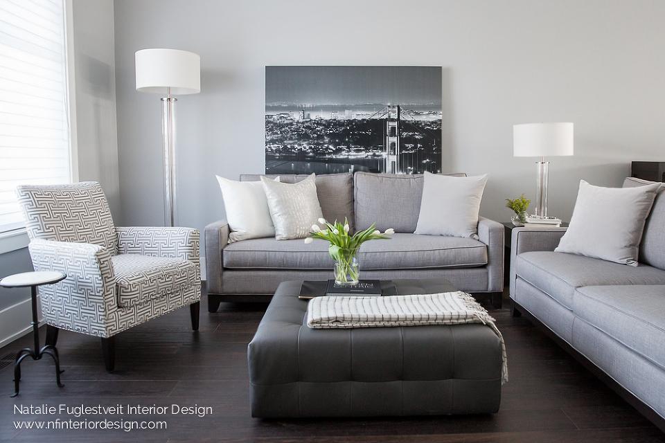 A Stylish Living Room by Calgary Interior Designer