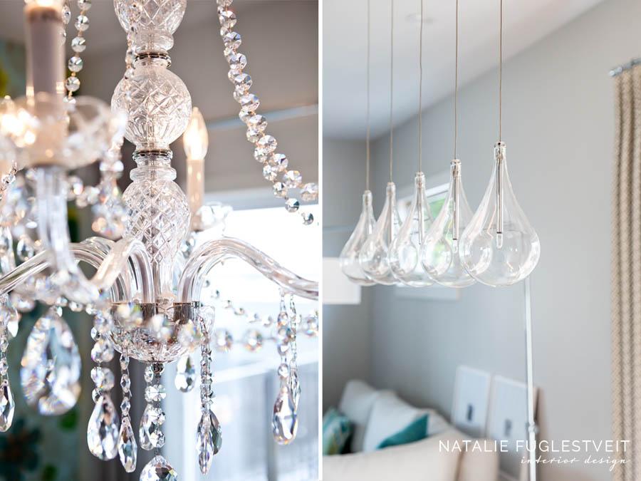 Uniqueness of Lighting Crystal Clear Chandeliers by Calgary Interior Designer Natalie Fuglestveit Interior Design