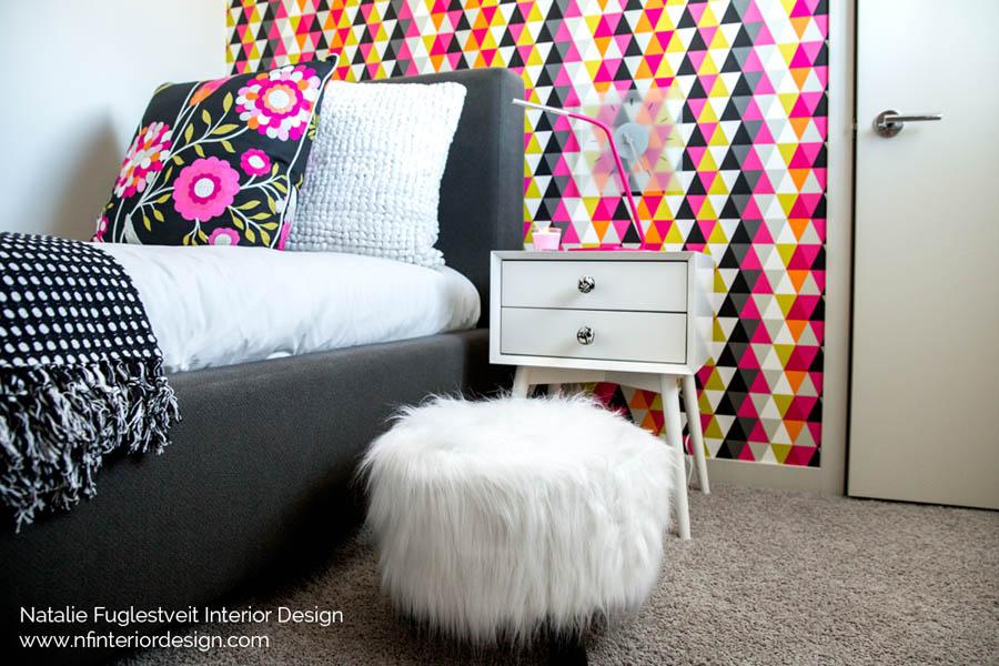 Firm 1 Vibrant Girls Bedroom By Calgary Interior Designer 4
