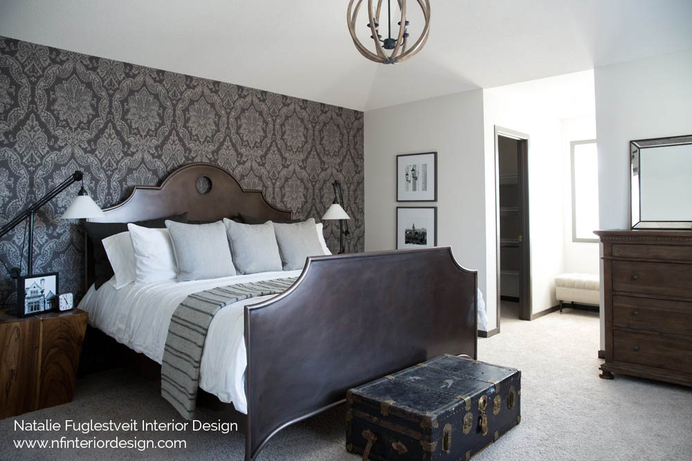 Designer Wallpaper By Calgary Interior Design Firm Natalie Fuglestveit Interior Design