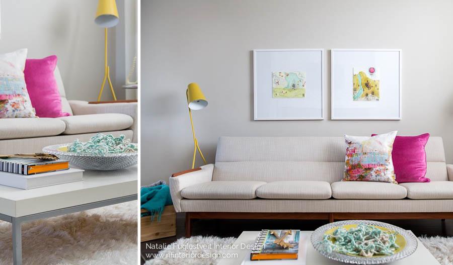 Vintage Mid Century Reupholstered Sofa By Calgary Interior Designer