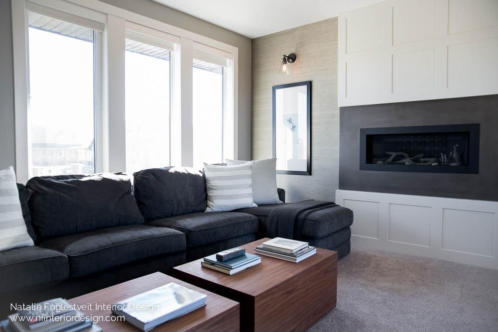 Okotoks family room renovation by calgary interior design for Boutique interior design firm