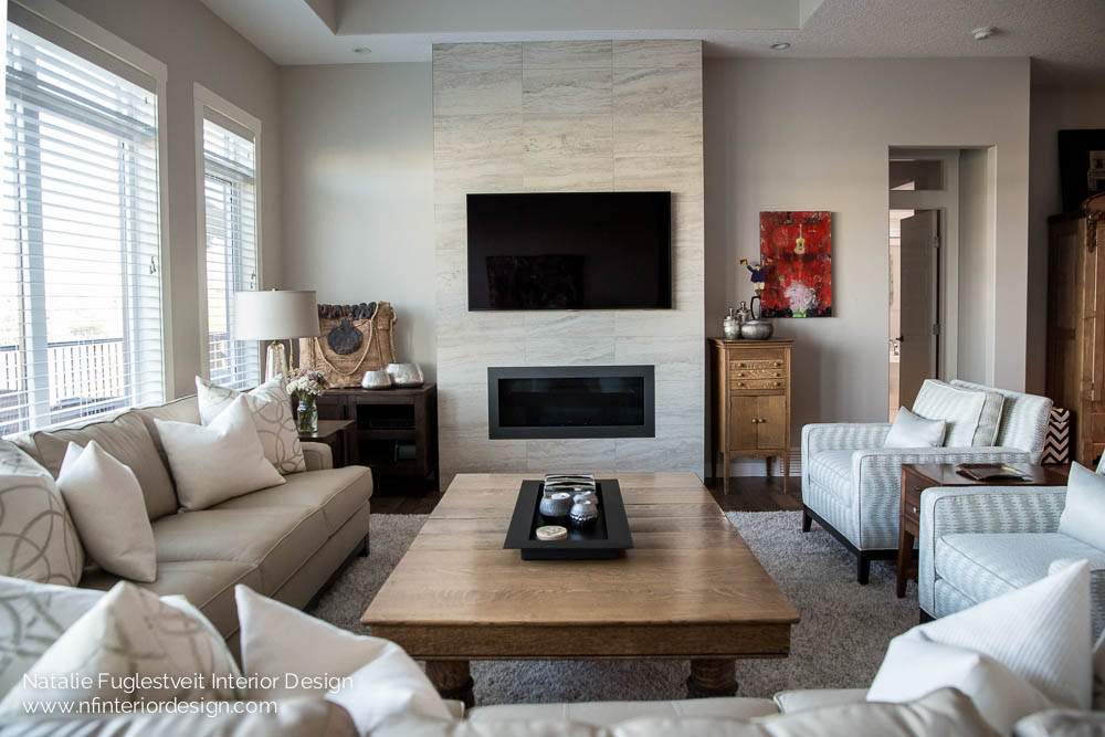 Enriched curated living room design natalie fuglestveit for Interior designs red deer