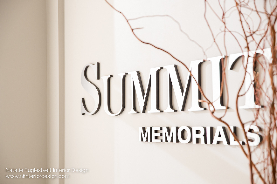Summit Memorials by Calgary Commercial Interior Designer, Natalie Fuglestveit Interior Design