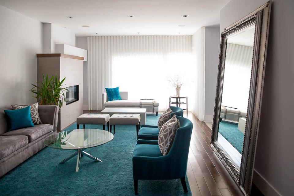Elegant Chic Living Room Dining