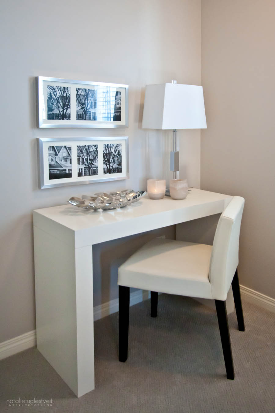 Small Work Space by Calgary Interior Designer