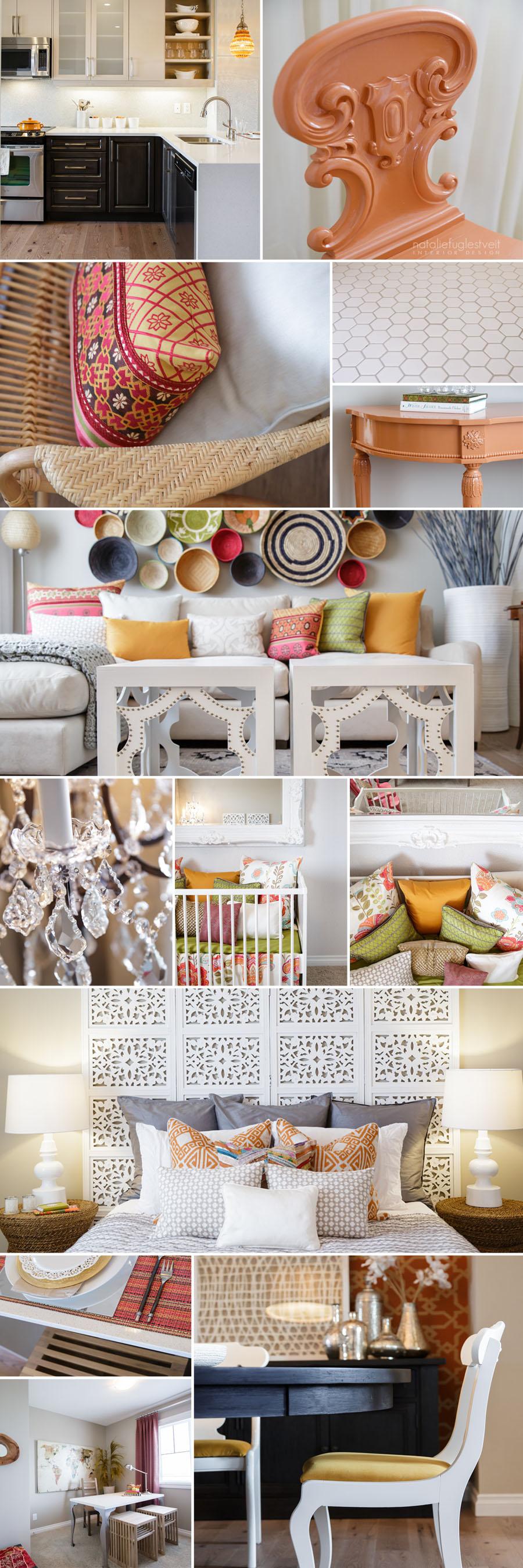 Moroccan Bohemian Chic Modern Interior by Calgary Interior Designer