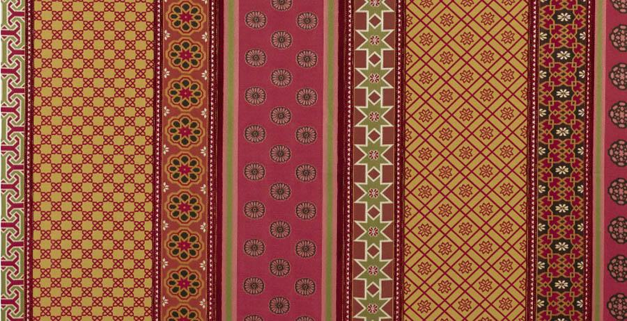 Pierre Frey Alidad Alhambra F2491 Rubis 1