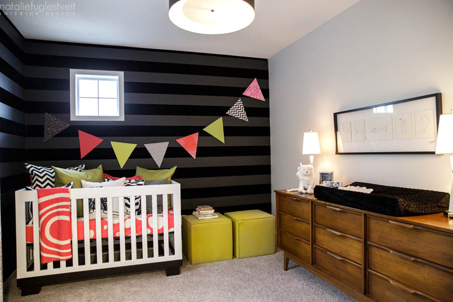 Modern Dramatic Baby Rm by Calgary Interior Designer 4