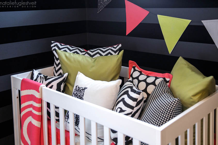 Modern Dramatic Baby Rm by Calgary Interior Designer 7