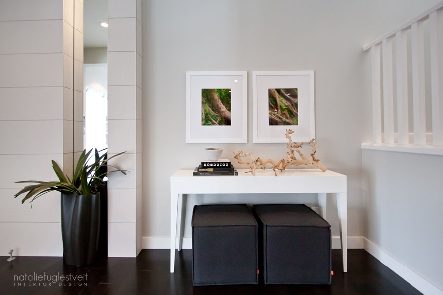 Modern Front Foyer by Calgary Interior Designer