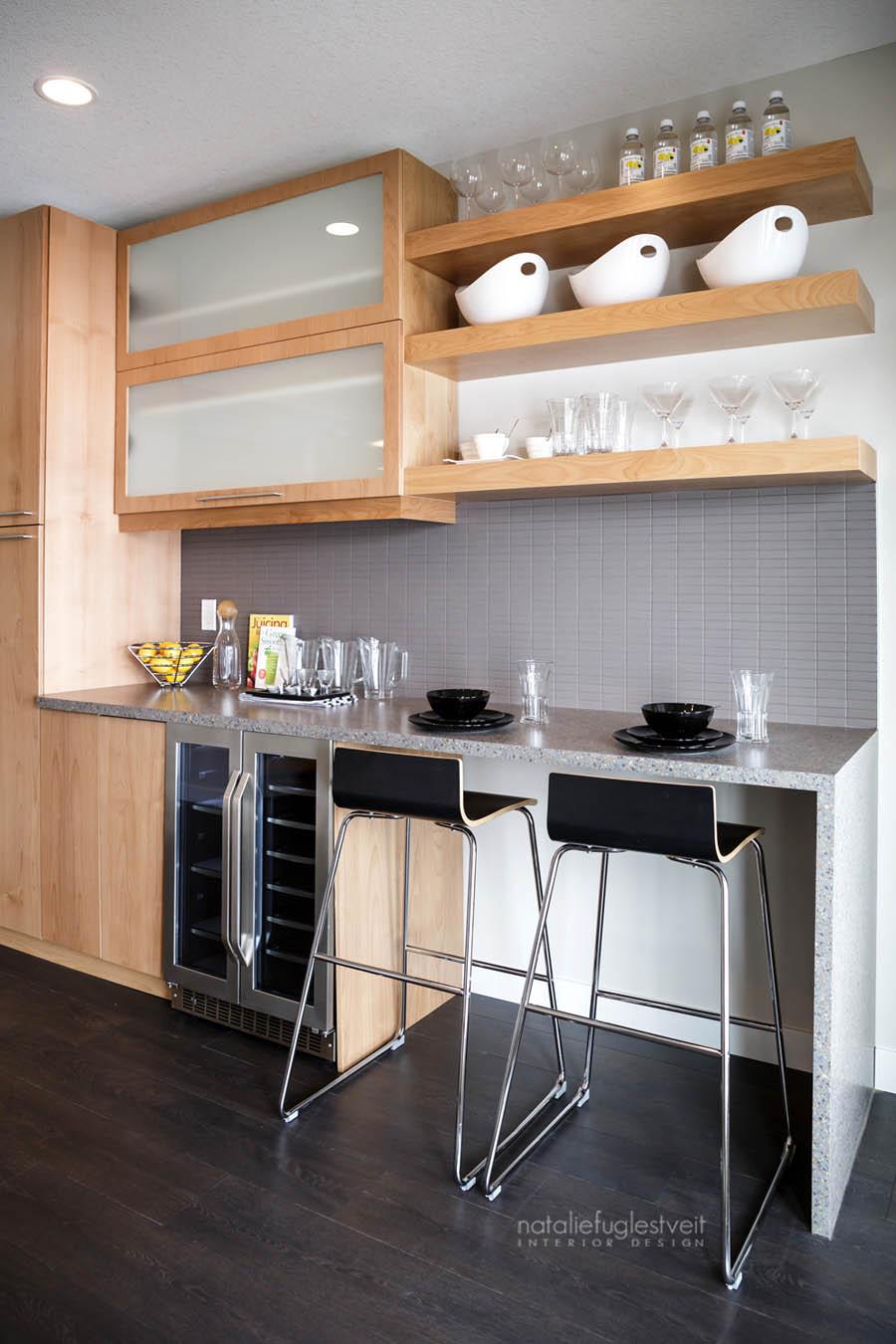 Basement Juice Bar by Calgary Interior Designer 2