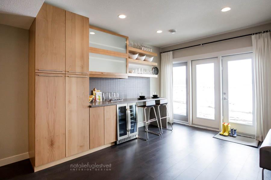 Basement Juice Bar by Calgary Interior Designer