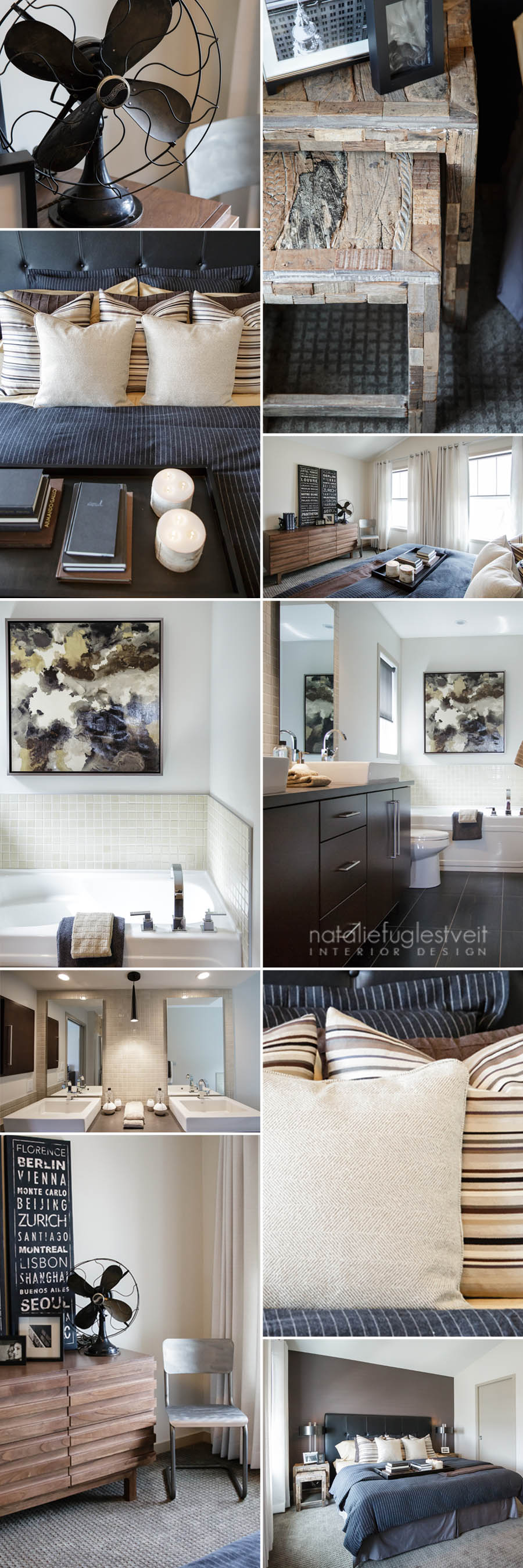 Brooklyn Style Master Pad & Ensuite by Calgary Interior Designer