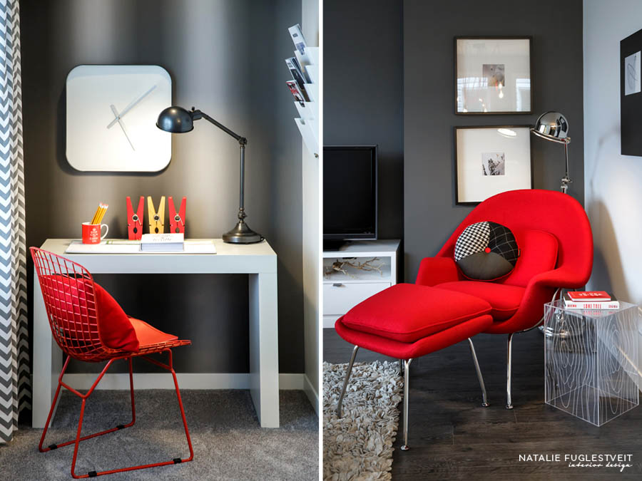 Red Chairs by Calgary Interior Designer
