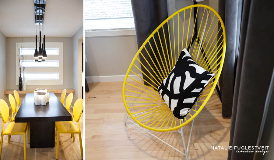 Yellow Chairs by Calgary Interior Designer