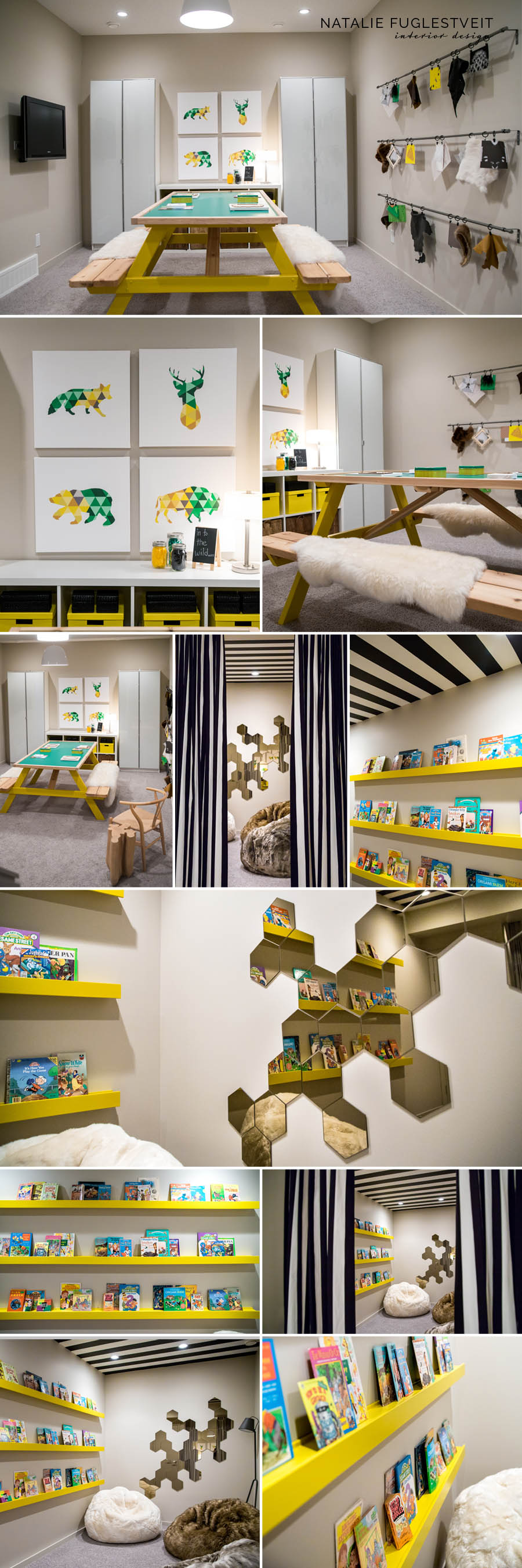 Amazing Kids Play Room in Basement by Calgary Interior Designer