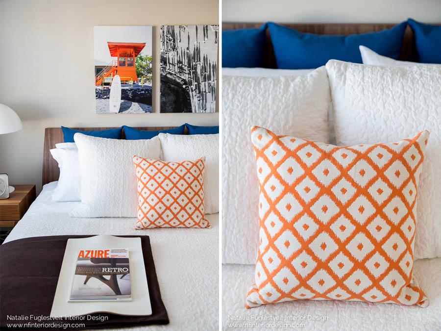 Summer Fun Bedroom by Calgary Interior Designer