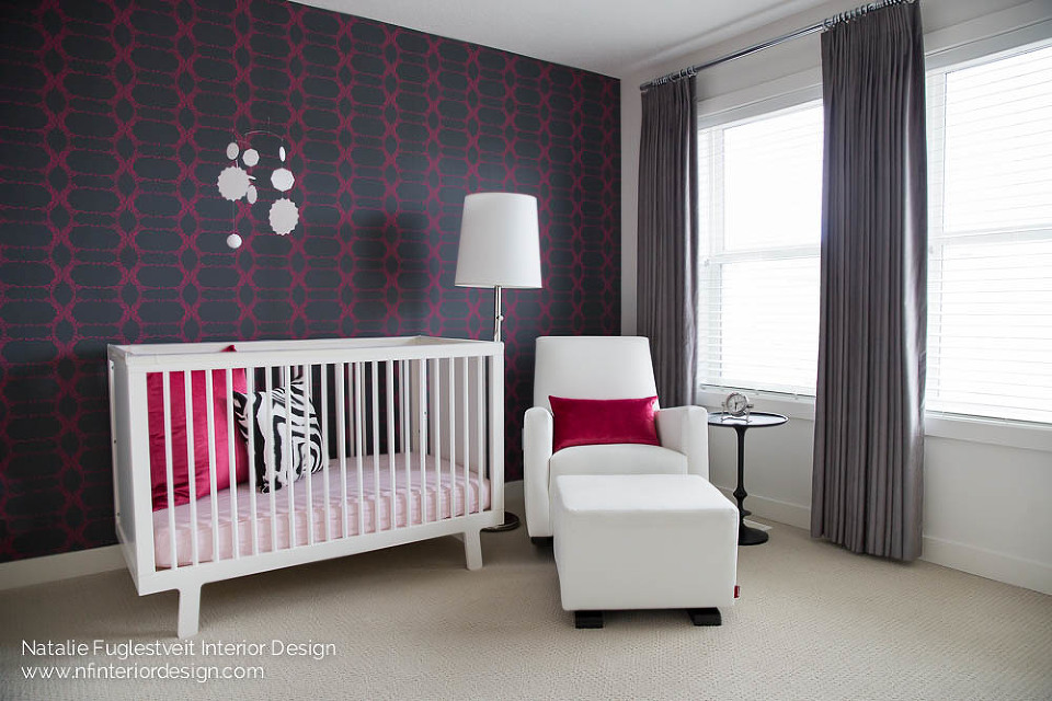 Raspberry Gem Baby Room by Calgary Interior Designer 2