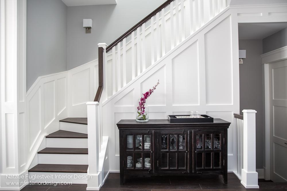 Stunning Stairwell by Calgary Interior Designer