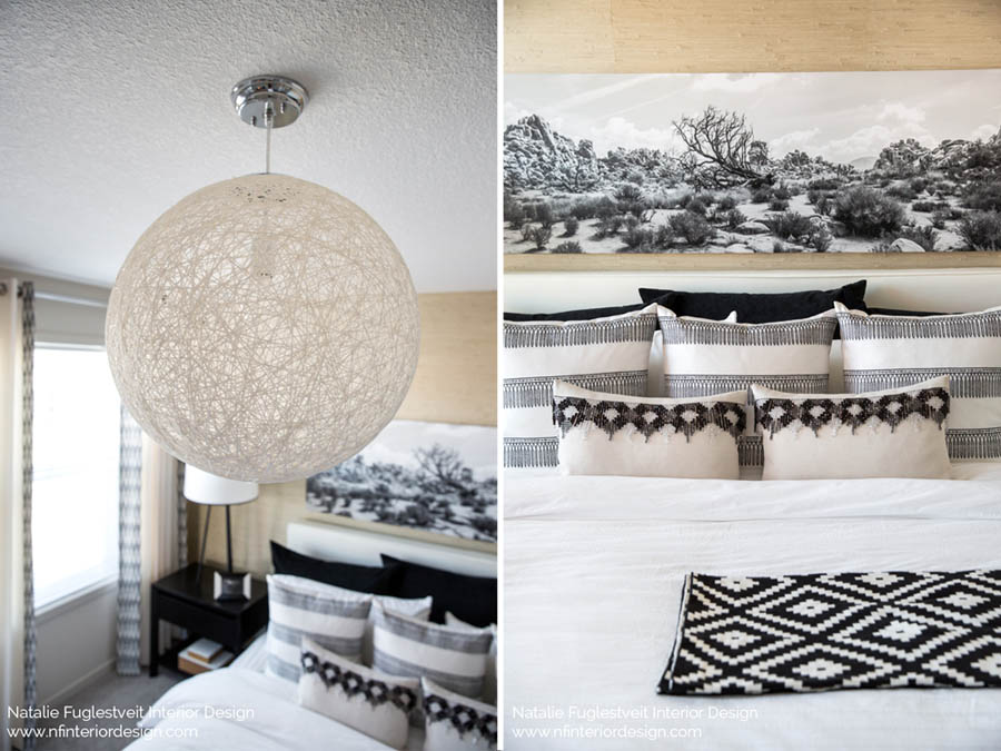 Tribal Master Bedroom by Calgary Interior Design Firm