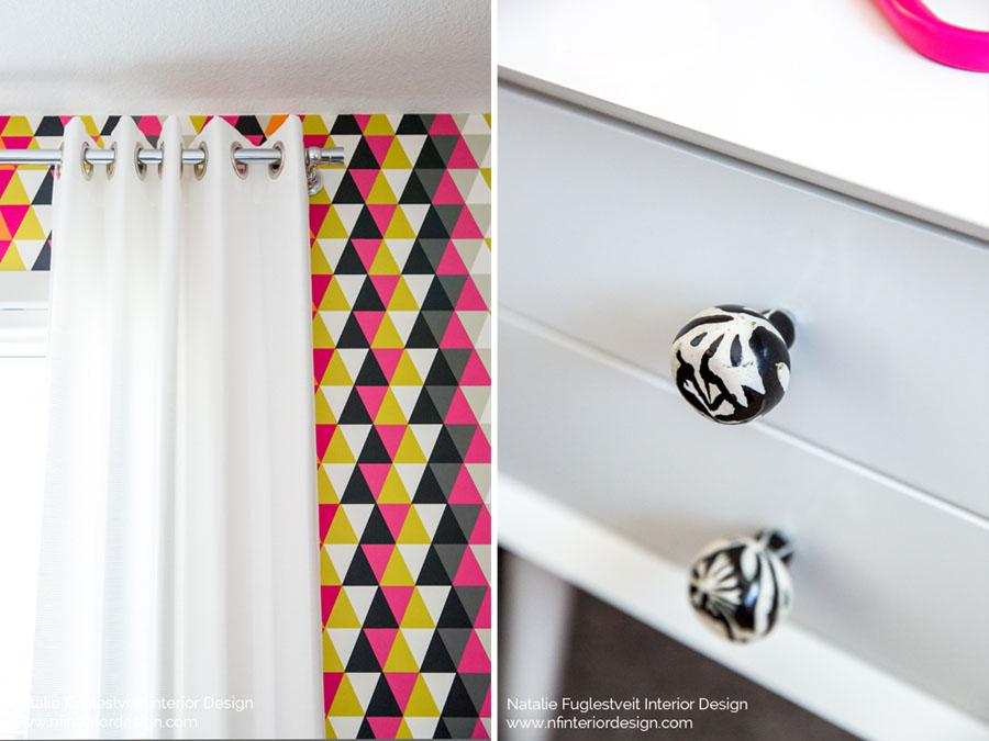 Vibrant Girls Bedroom by Calgary Interior Design Firm 1