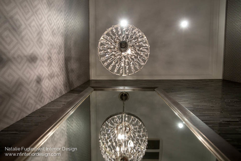 Touches of Elegance Powder Room by Natalie Fuglestveit Interior Design Firm