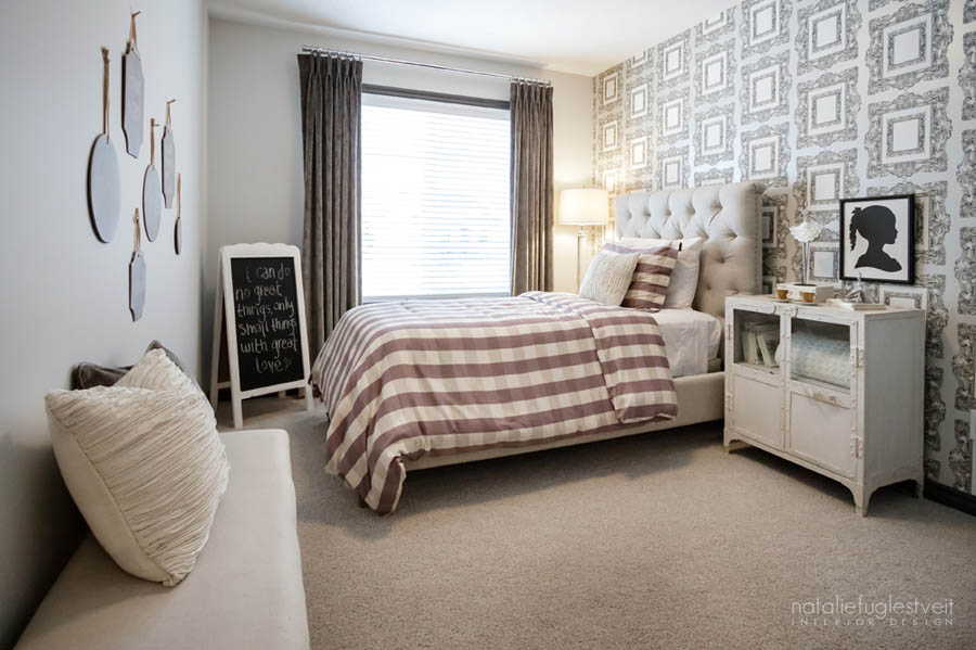 Blushing Bedroom Design by Calgary Interior Design Firm 3