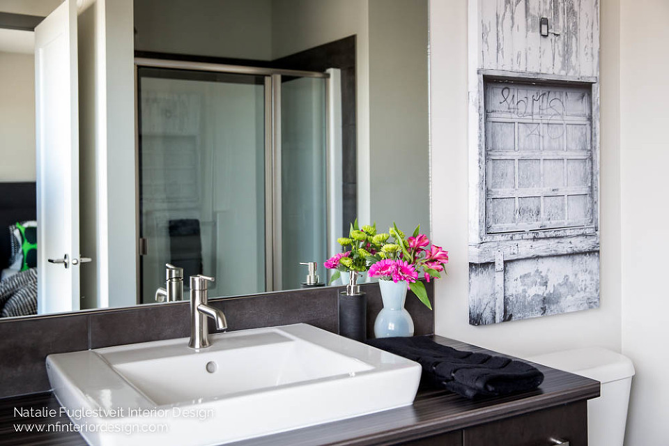 Industrial Bath Design By Kelowna Interior Designer