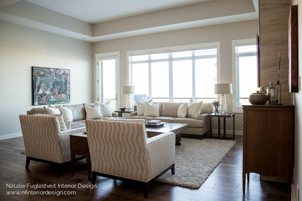 Enriched Curated Living Room Design by Calgary Interior Designer, Natalie Fuglestveit Interior Design