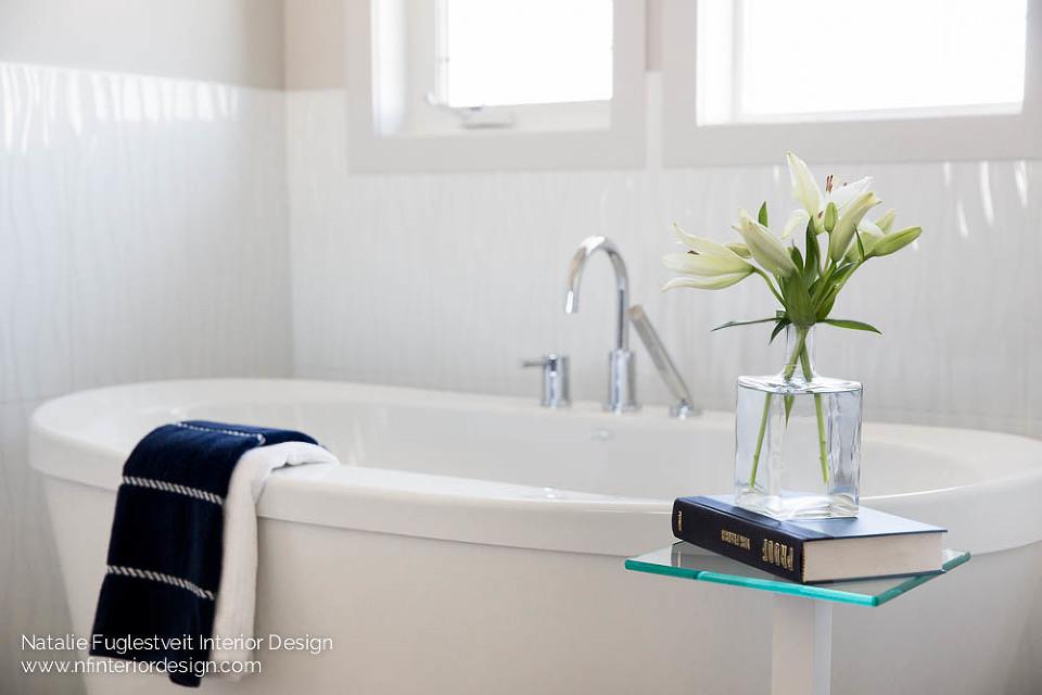Crisp + Clean Ensuite Design by Calgary Interior Designer, Natalie Fuglestveit Interior Design