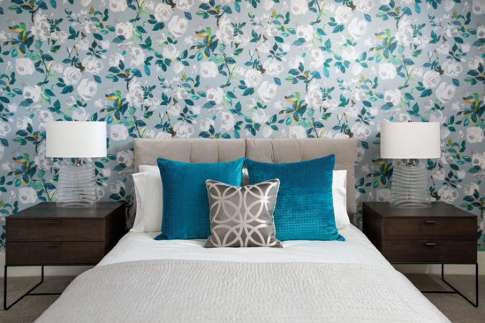 Fresh Floral Guest Bedroom Design by Natalie Fuglestveit Interior Design