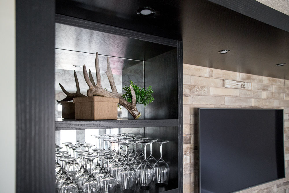 Custom Basement Bar Design by Natalie Fuglestveit Interior Design, Calgary & Kelowna Interior Design Firm.