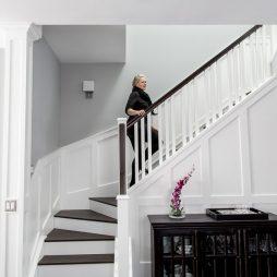 Stylish Stairwell Design by Natalie Fuglestveit Interior Design, Kelowna Interior Designer